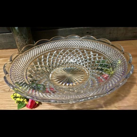 Vintage Anchor Hocking Wexford Glass Seving Bowl